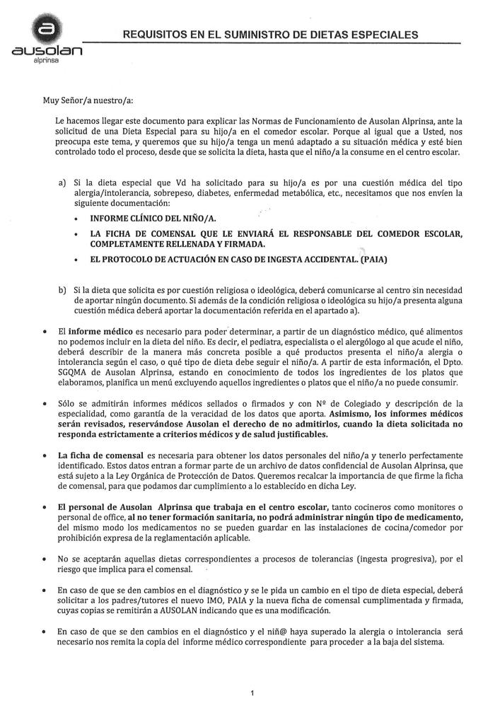 Ausolan_Requisitos en el suministro de dietas especiales 1