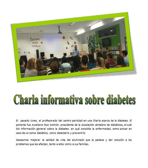 Charla informativa sobre diabetes